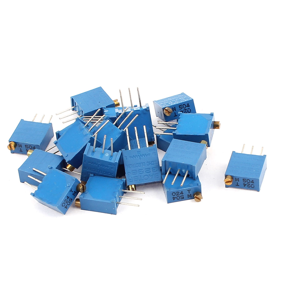20 Pcs 3296W 500K ohm Multiturn Potentiometer Pot Variable Resistor