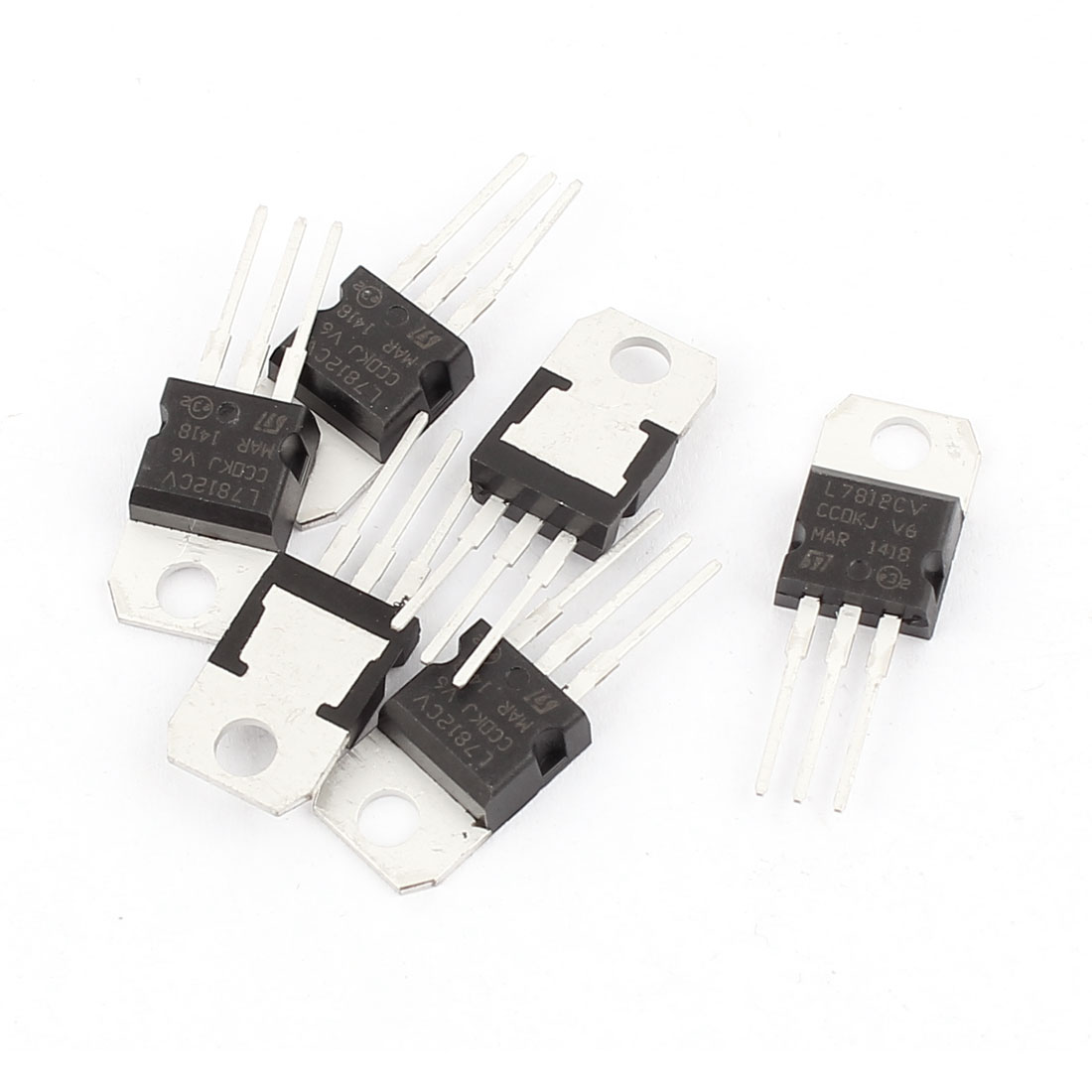 6 Pcs 12V 1A 3 Pin Terminals L7812CV Positive Voltage Regulator TO-220