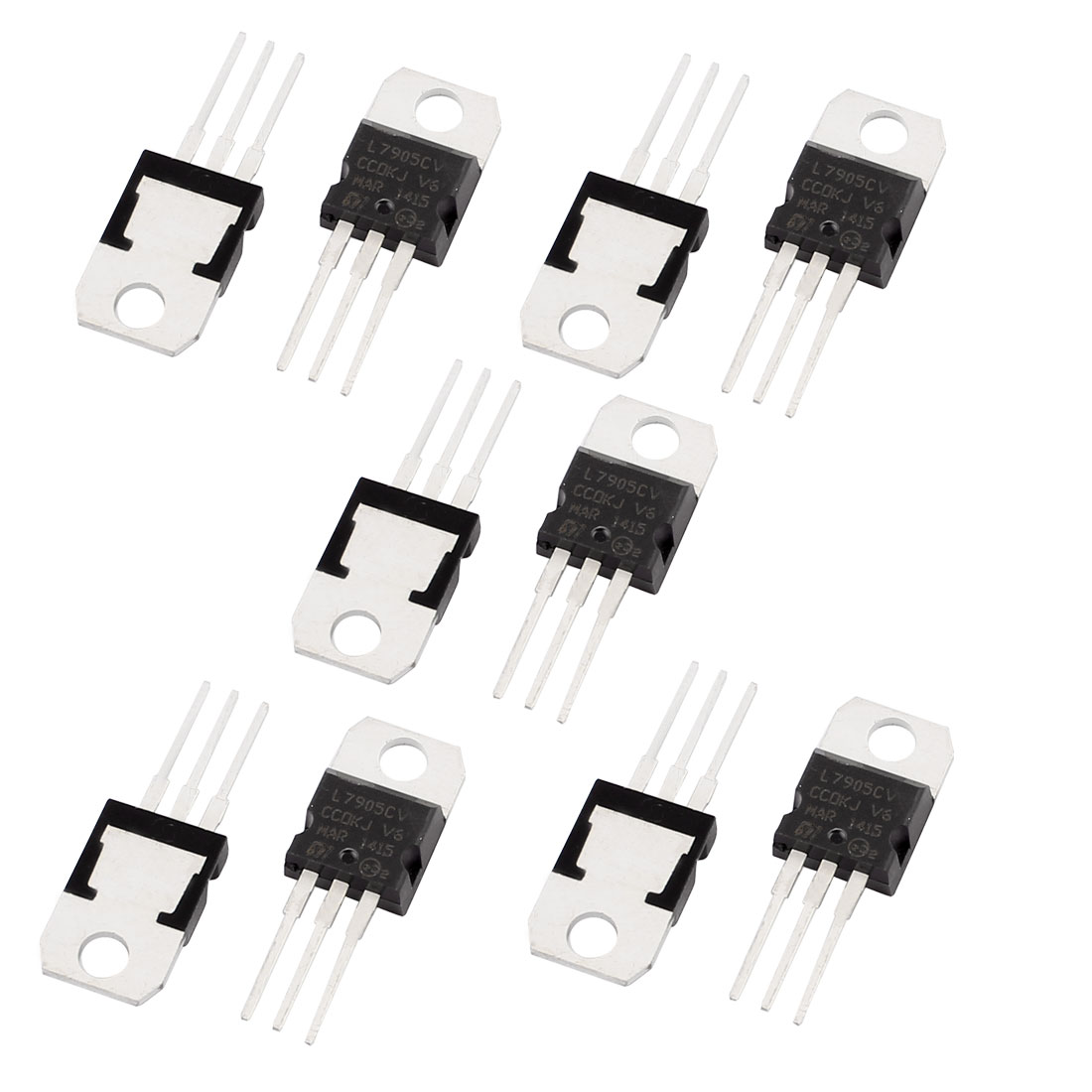 10 Pcs 5V 1A 3 Pin Terminals L7905CV Negative Voltage Regulator TO-220
