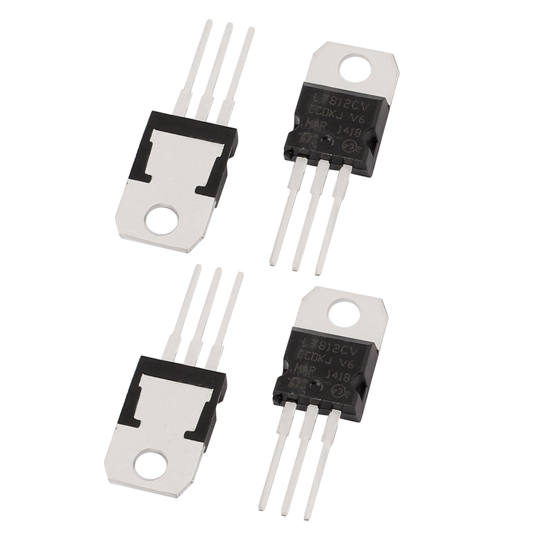 4 Pcs 12V 1A 3 Pin Terminals L7812CV Positive Voltage Regulator TO-220