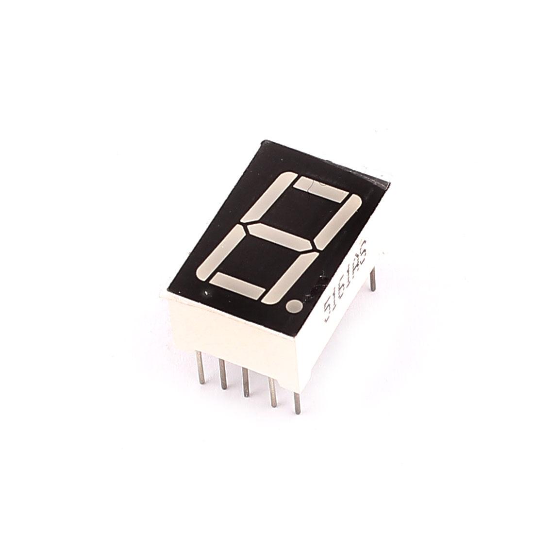 "Common Cathode 10 Pin 1 Bit 7 Segment 0.56"" Red LED Display Digital Tube"