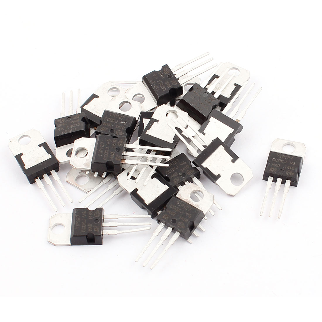 20 Pcs 100V 5A 3 Pin Terminals TIP127 PNP Power Transistor TO-220