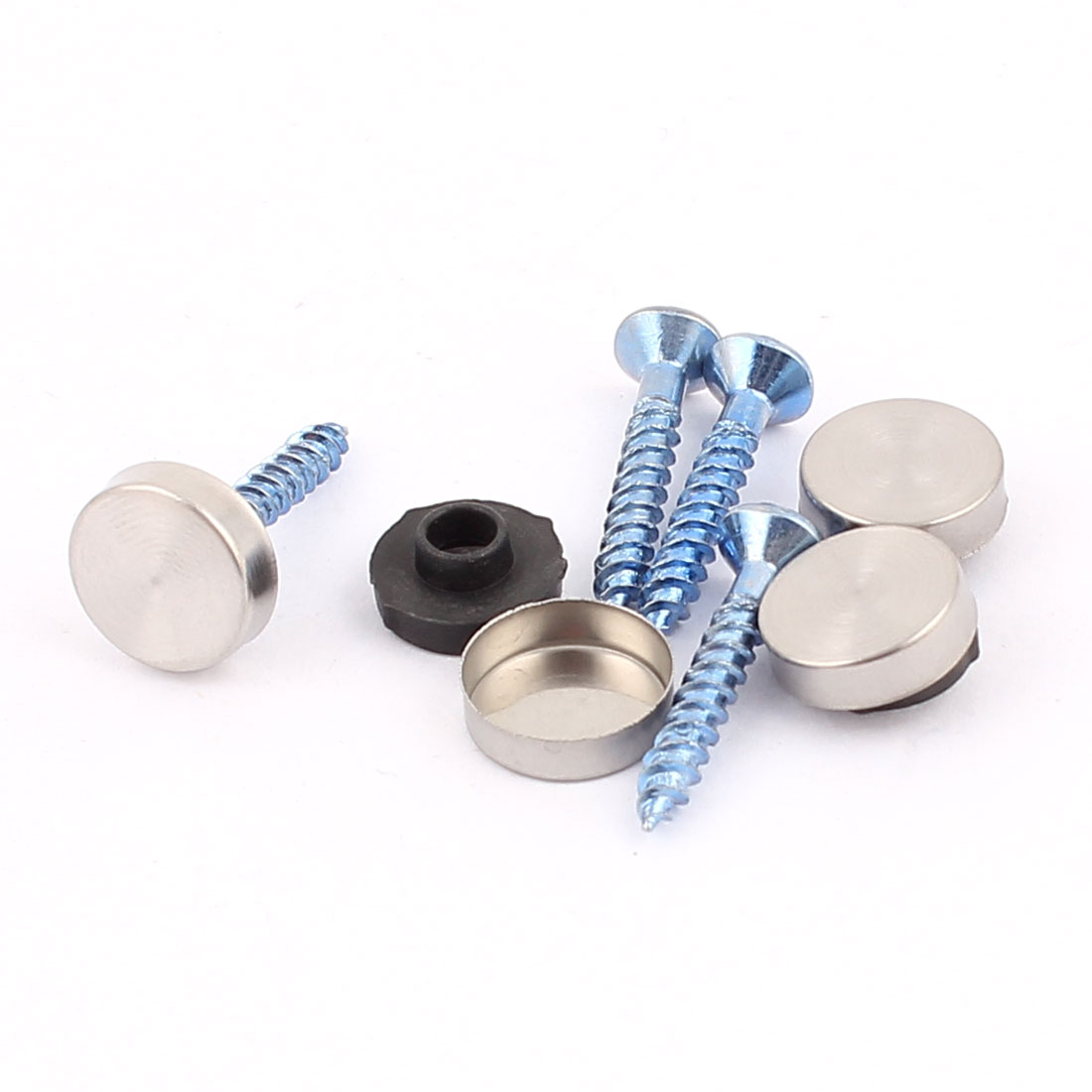 4 Pcs Anti-rust Fixed Mirror Nail Pad Decorative Fasteners Billboard Studded 12mm Diameter