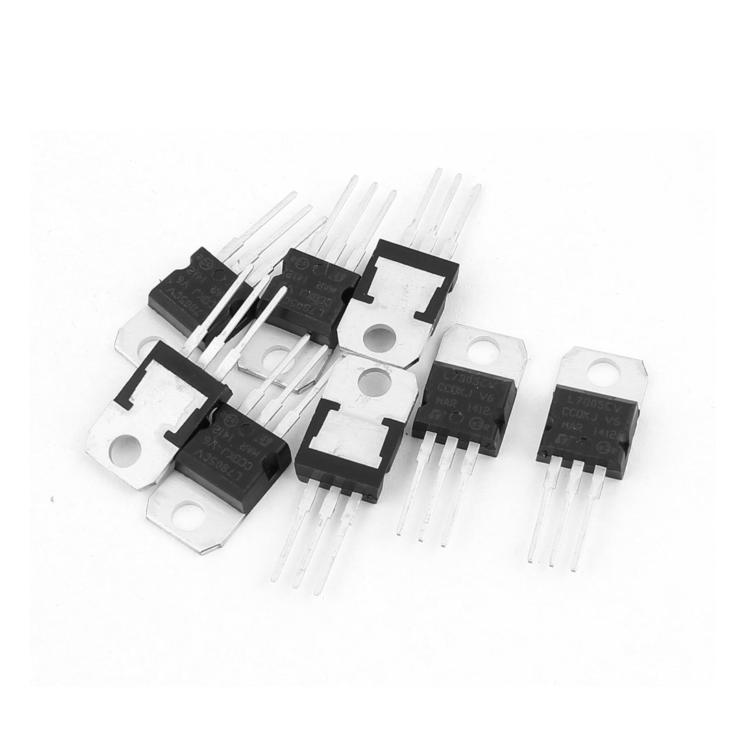 8 Pcs L7805CV 3 Terminals Negative Voltage Regulator 1.5A 5V TO-220 Package