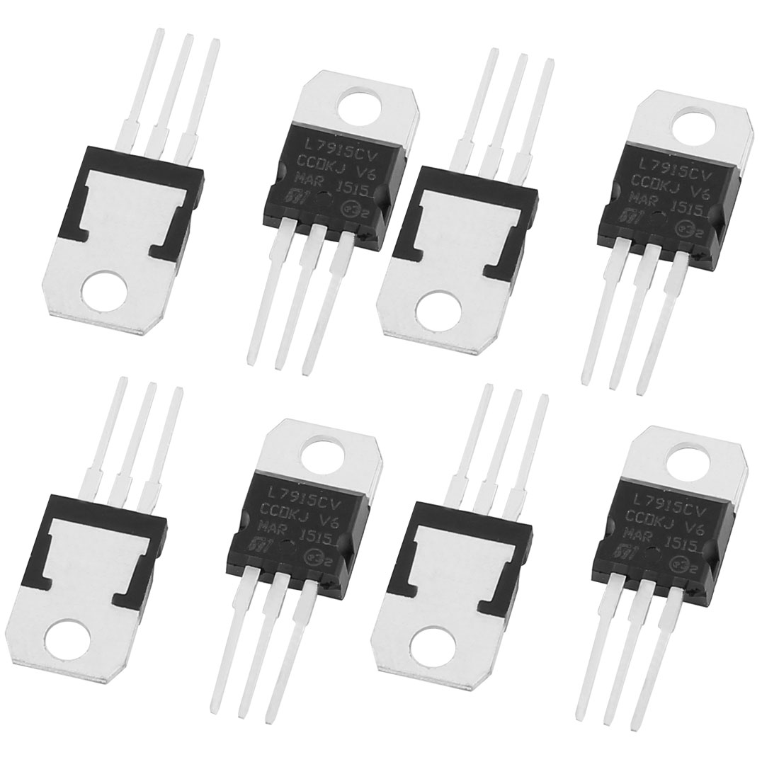 8 Pcs 15V 1A 3 Pin Terminals L7915CV Negative Voltage Regulator TO-220