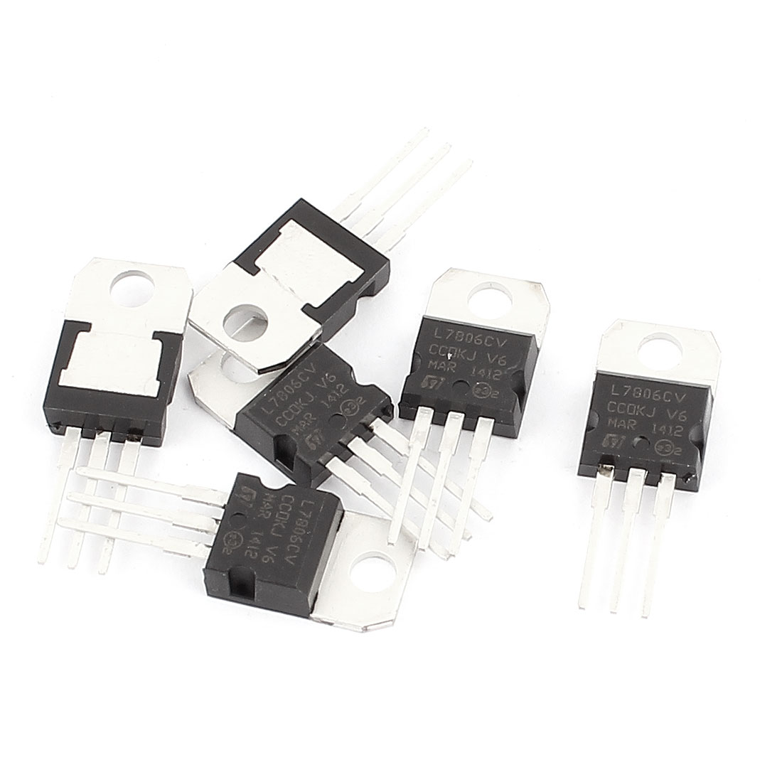6 Pcs 6V 1A 3 Pin Terminals L7806CV Positive Voltage Regulator TO-220