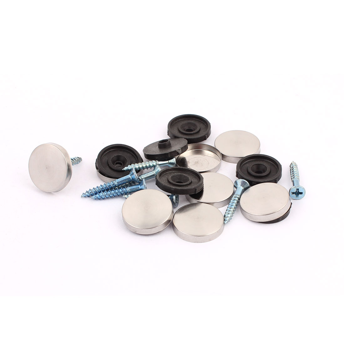8 Pcs Anti-rust Fixed Mirror Nail Pad Decorative Fasteners Billboard Studded 20mm Diameter
