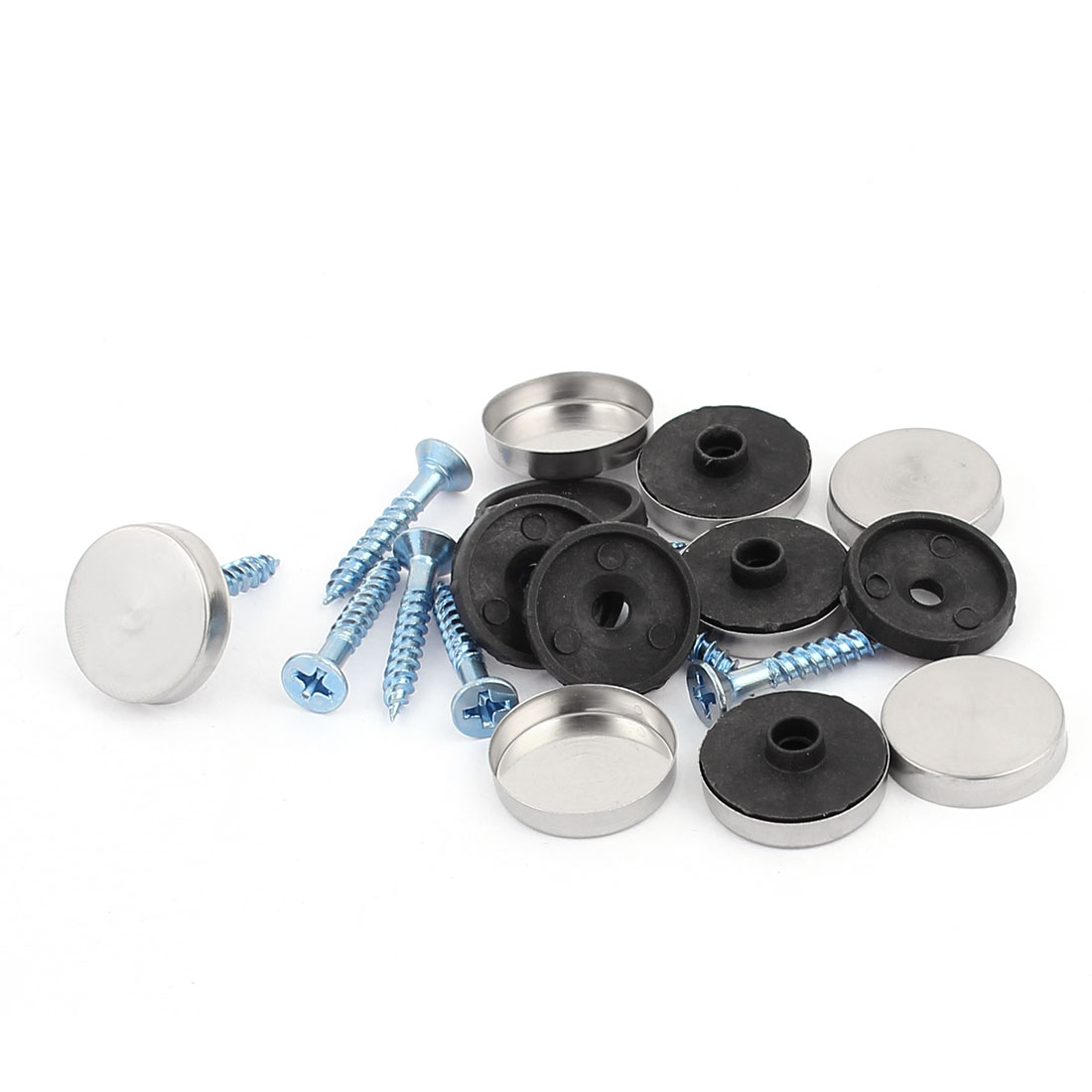 8 Pcs Anti-rust Fixed Mirror Nail Pad Decorative Fasteners Billboard Studded 18mm Diameter