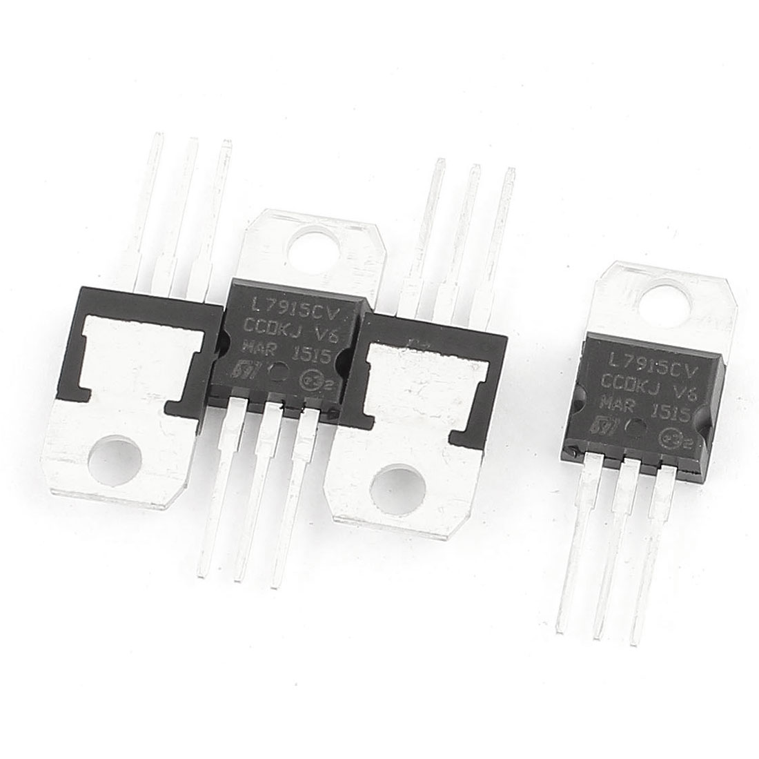 4 Pcs L7915CV 3 Terminals Negative Voltage Regulator 1.5A 15V TO-220 Package