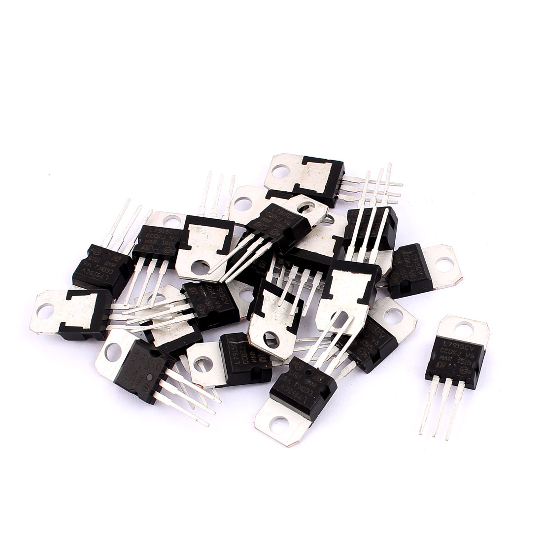 20 Pcs L7915CV Package TO-220 Negative Voltage Regulator 1.5A 15V