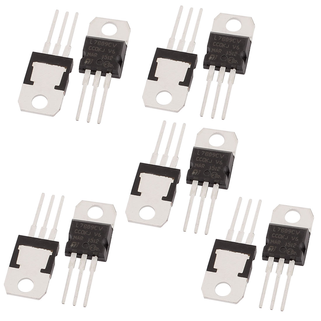 10 Pcs 9V 1A 3 Pin Terminals L7809CV Positive Voltage Regulator TO-220