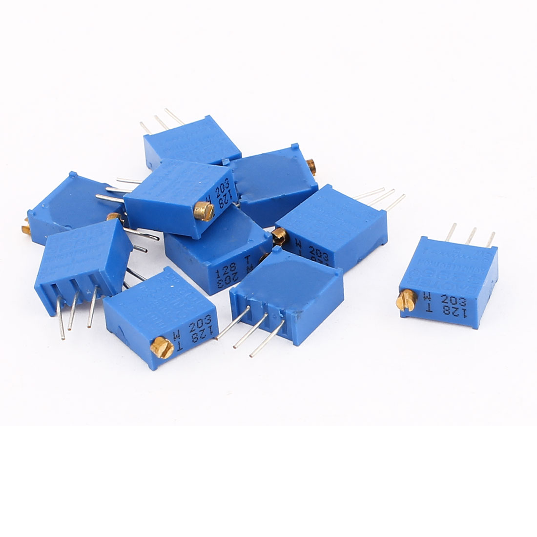 10 Pcs 3296W 20K ohm Multiturn Potentiometer Pot Variable Resistor