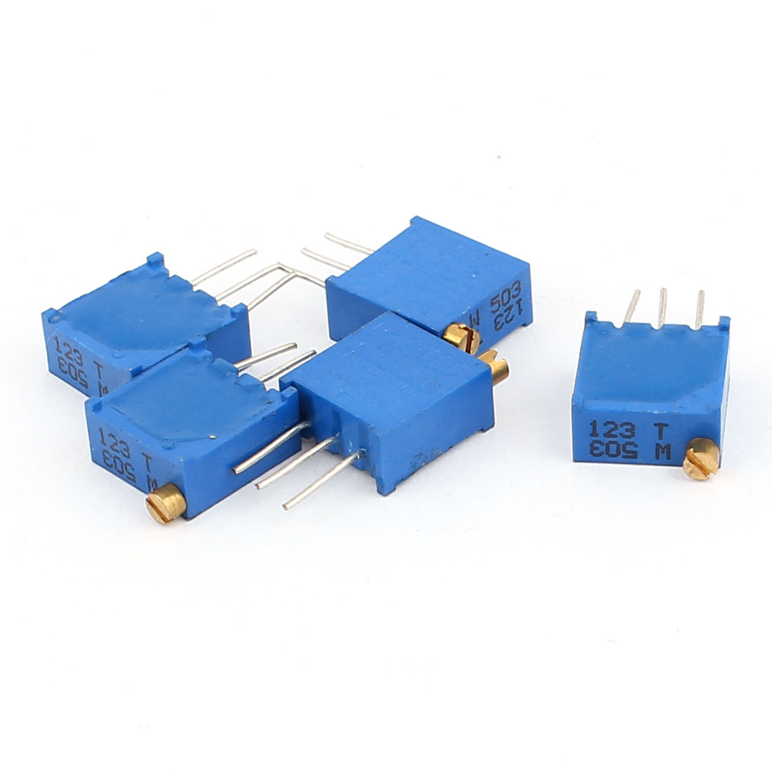 5 Pcs 3296W 50K ohm Multiturn Potentiometer Pot Variable Resistor