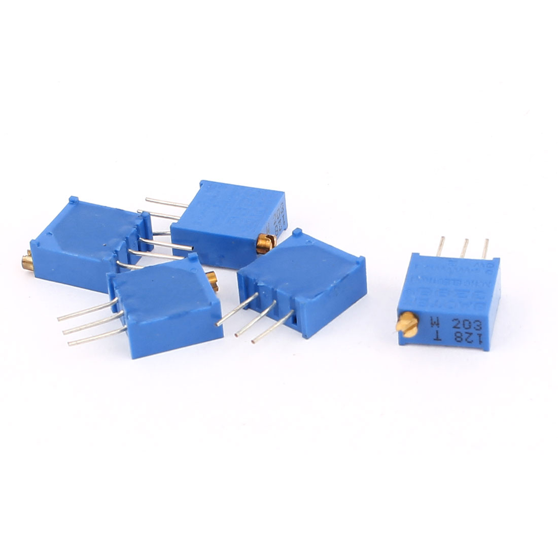 5 Pcs 3296W 20K ohm Variable Resistor Adjustable Resistance for Multiturn Potentiometer