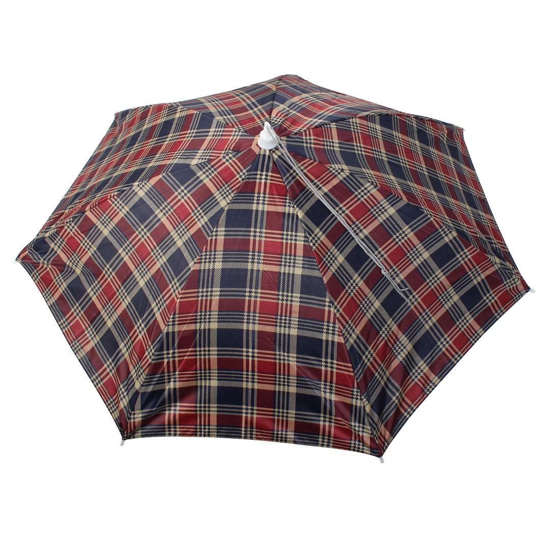 Headwear Umbrella Hat Cap Outdoor Brolly Beach Sun Rain Fishing Camping Hunting