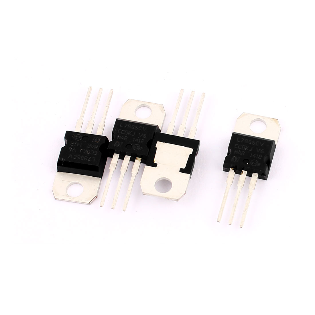 4 Pcs L7806CV 3 Terminals Negative Voltage Regulator 1.5A 6V TO-220 Package