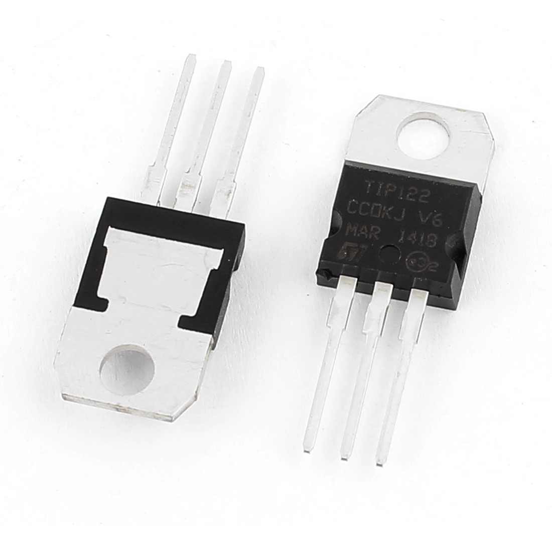 2 Pcs TIP122 Package TO-220 3 Terminals Power Transistors 100V 5A