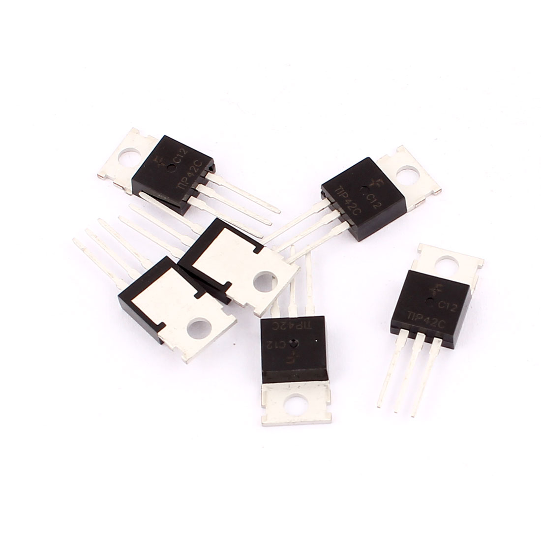 6 Pcs 100V 6A 3 Pin Terminals TIP42C PNP Power Transistor TO-220