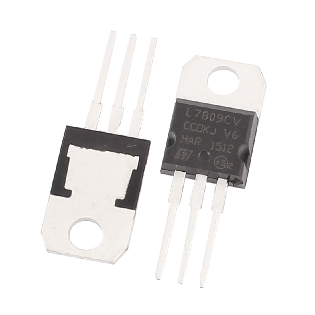 2 Pcs 9V 1A 3 Pin Terminals 7809 Positive Voltage Regulator TO-220