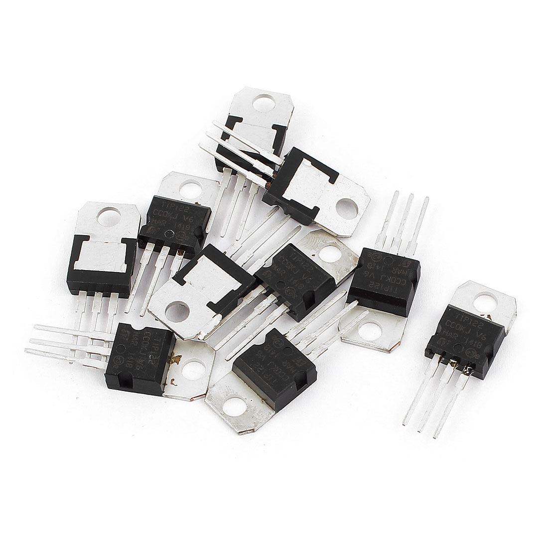 10 Pcs TIP122 Package TO-220 3 Terminals Power Transistor 100V 5A