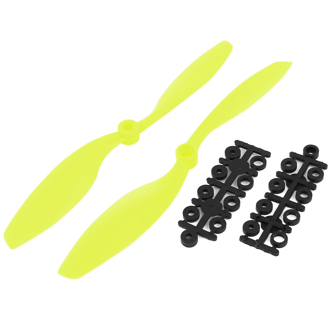 "2 Pcs 8""x 4.5"" 8045 Nylon CW CCW Propeller Prop Yellow For Multicopter Quad Copter"