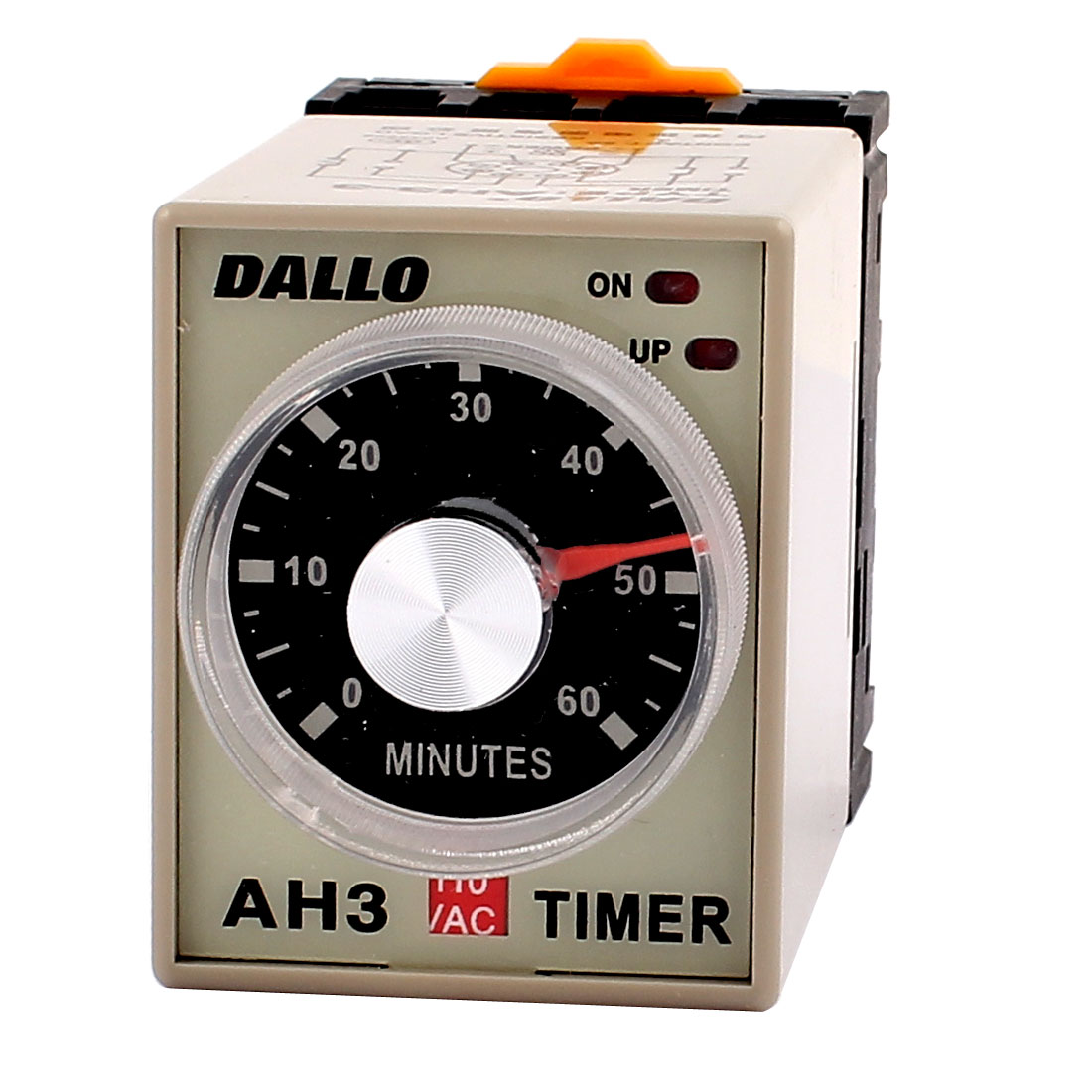 AC 110V DPDT 60M Rotary Knob 8P Terminals Delay Timer Time Relay w Socket