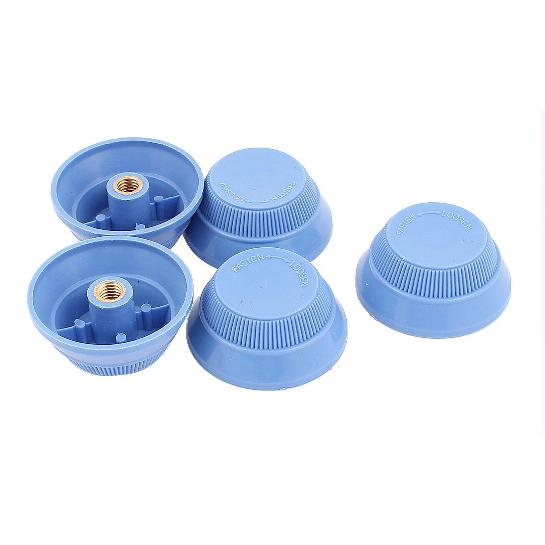 5pcs 7mm Female Thread Blue Plastic Desk Electric Fan Vane Rotary Nuts