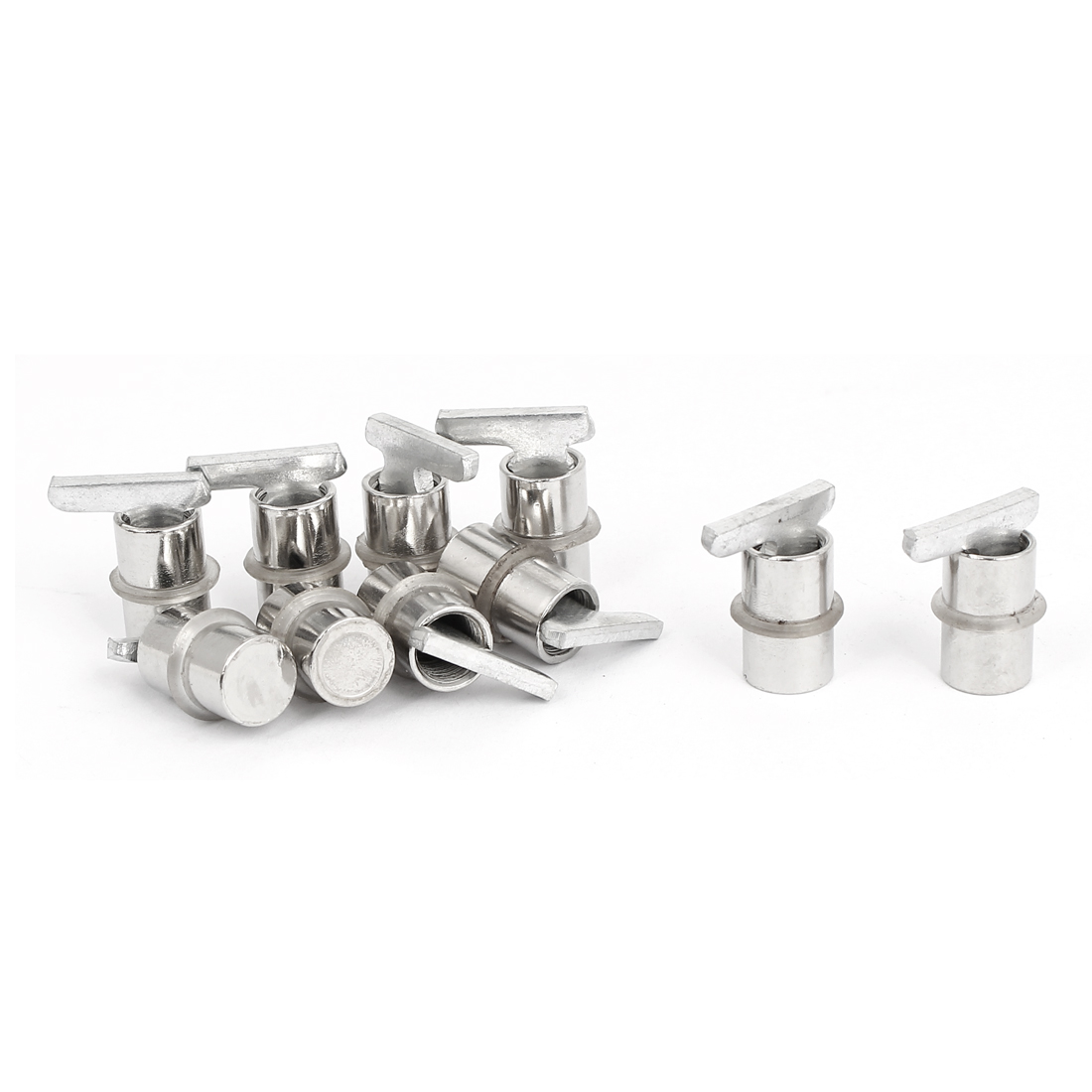 10pcs Furniture Fitting Cabinet Glass Shelf Holder Support Metal Pins Studs Pegs