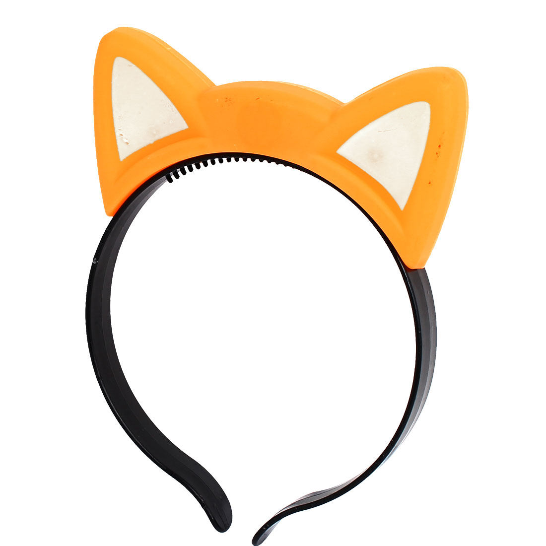 Party Cosplay Flash LED Cat Ear Light Blinking Hair Band Hairband Headband Orange