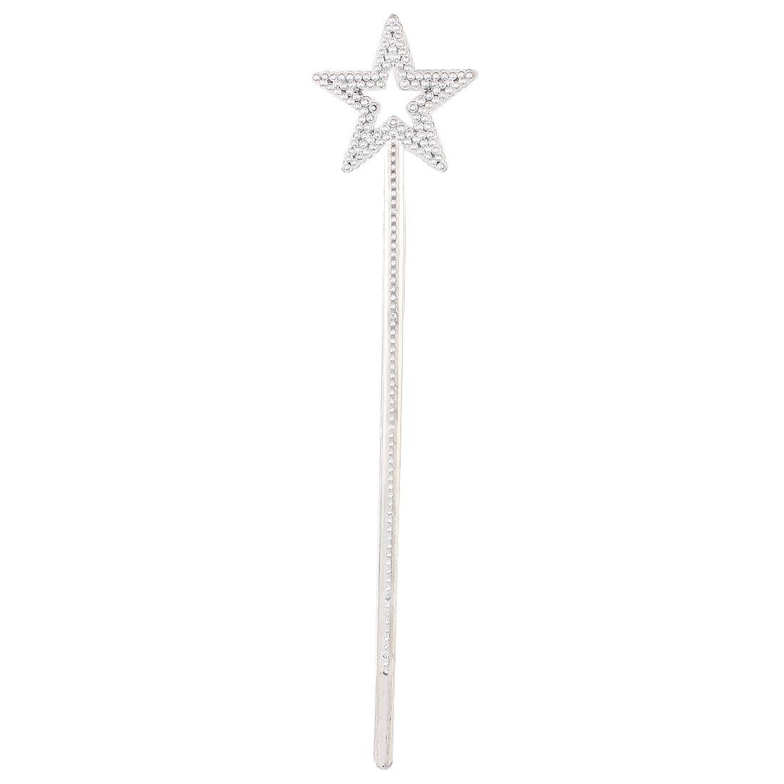 Party Cosplay Plastic Beads Decor Star Shape Top Fairy Princess Magic Wand