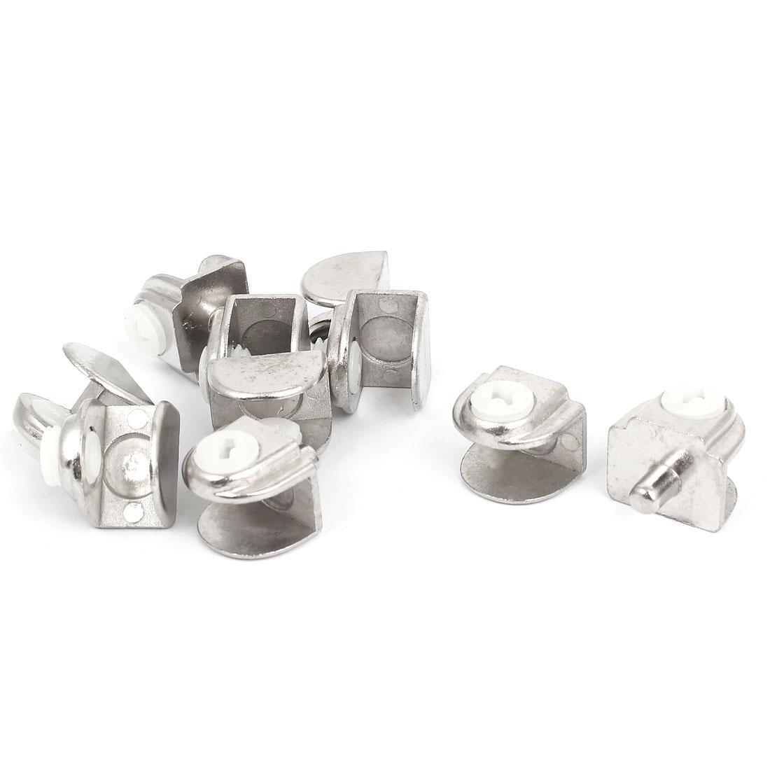 10pcs 7-9mm Thickness Metal Adjustable Door Hinge Glass Clamp Clip Support Bracket
