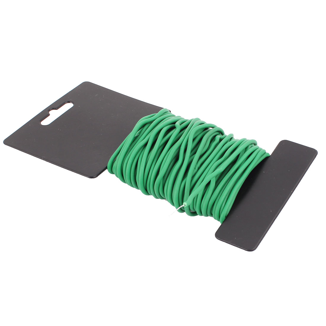 11.5M 38Ft Length Green Plastic Coated Packaging Twist Cable Tie Wire Rope String