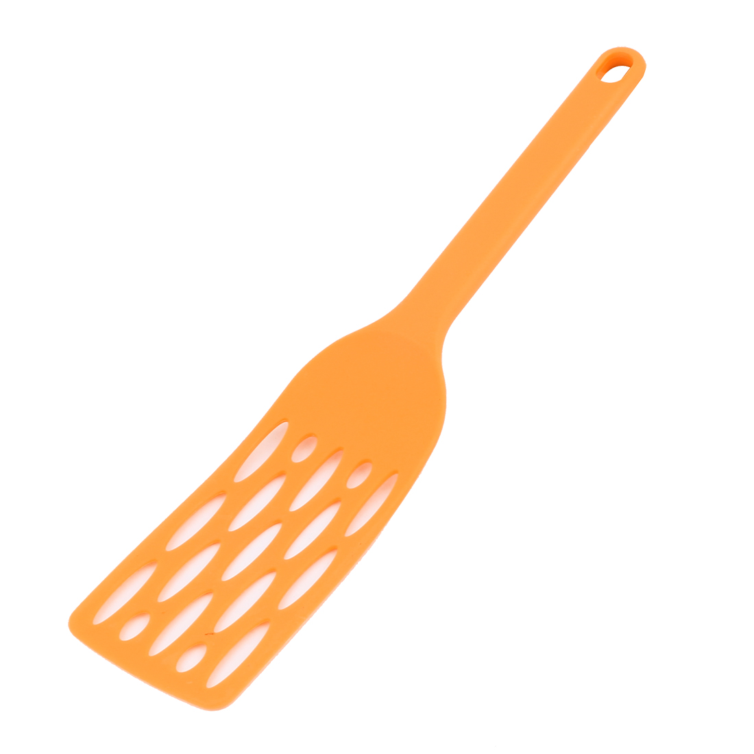 "Yellow Plastic Hollow Design Cooking Ware Pancake Frying Turner Spatula 12"" Long"