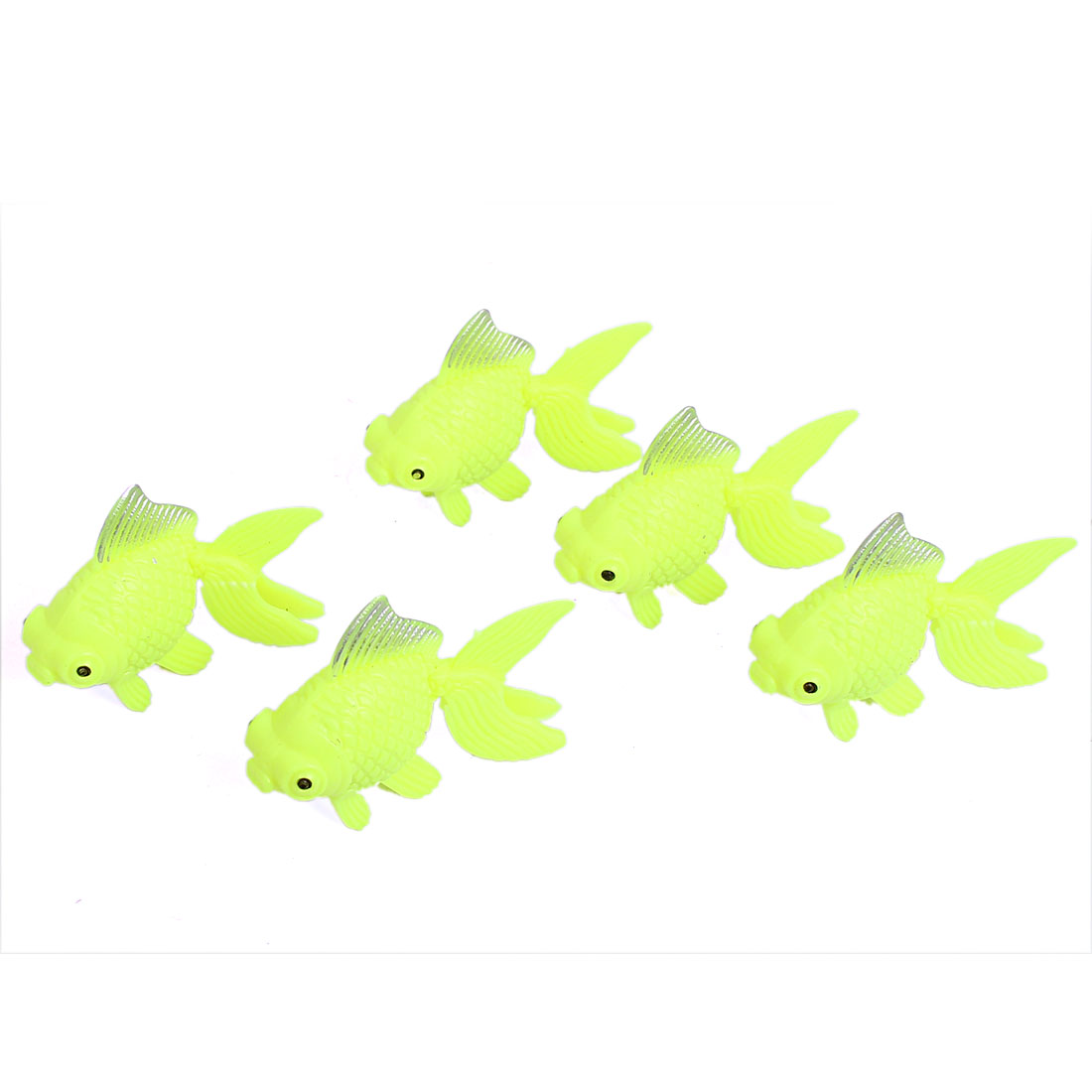 Fishbowl Aquascaping Plastic Artifical Aquarium Swing Tail Goldfish Fish Ornament 5pcs