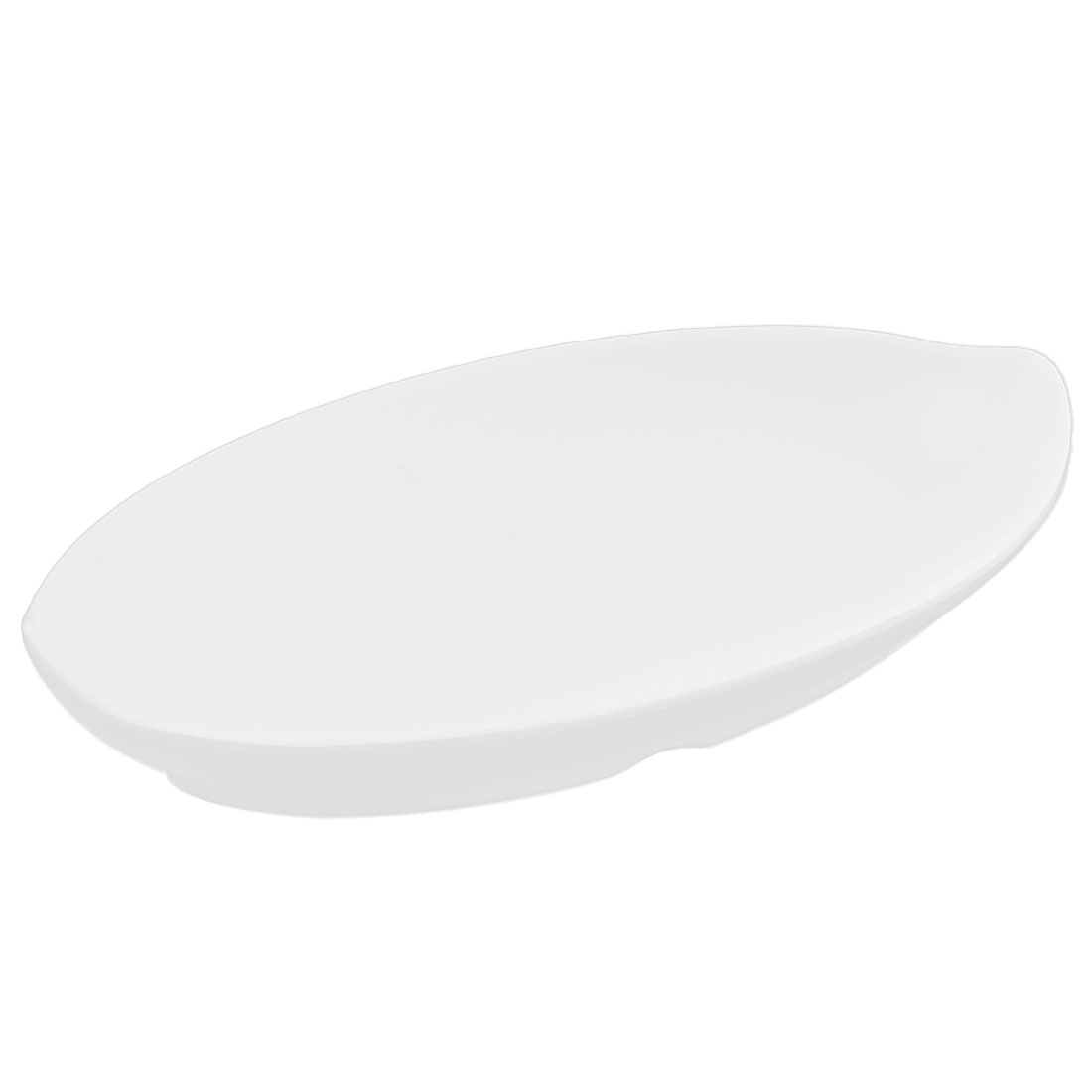 Home Restaurant Plastic Boat Dish Serving Bowl White