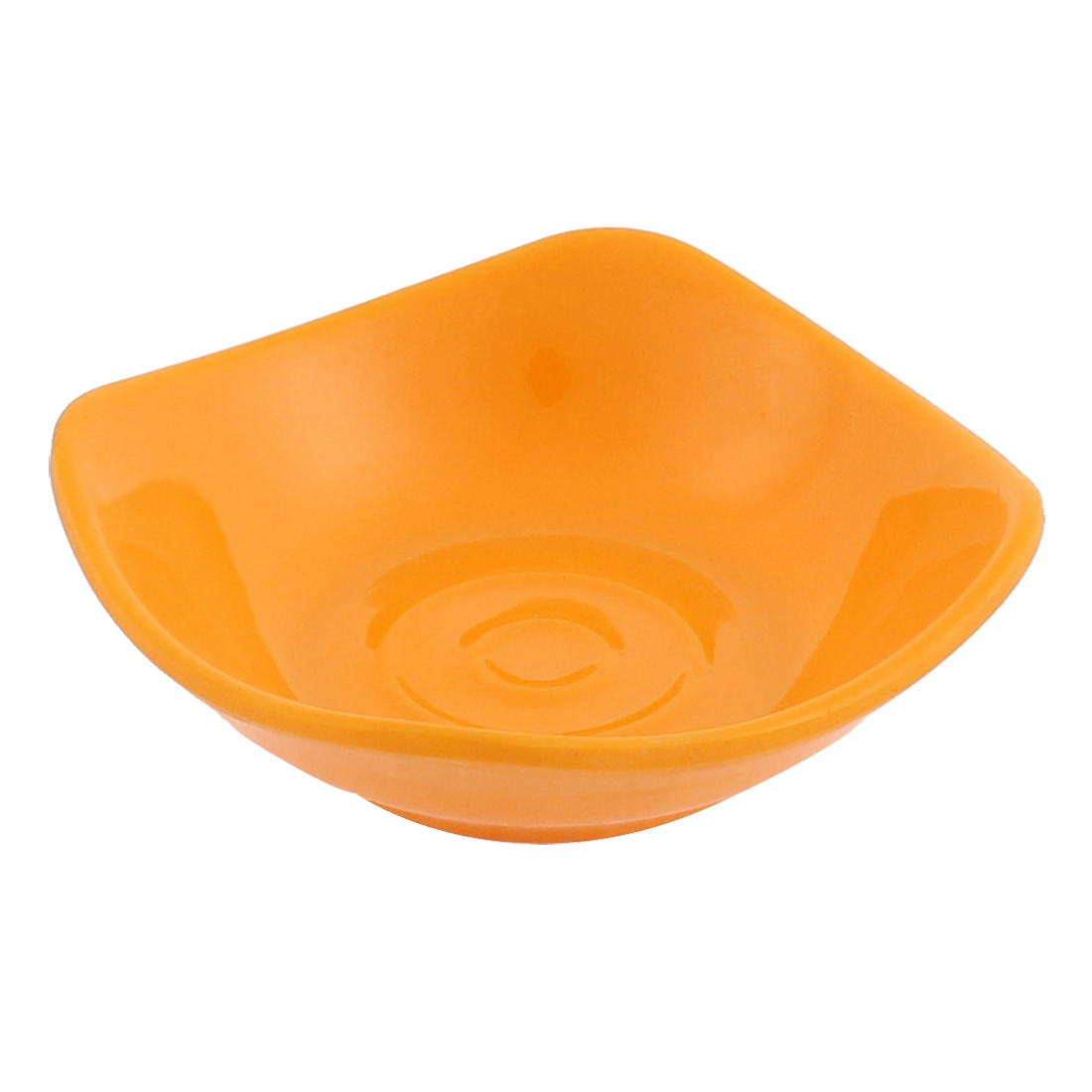 Plastic Square Shape Soy Sauce Dipping Sushi Dish Plate Yellow