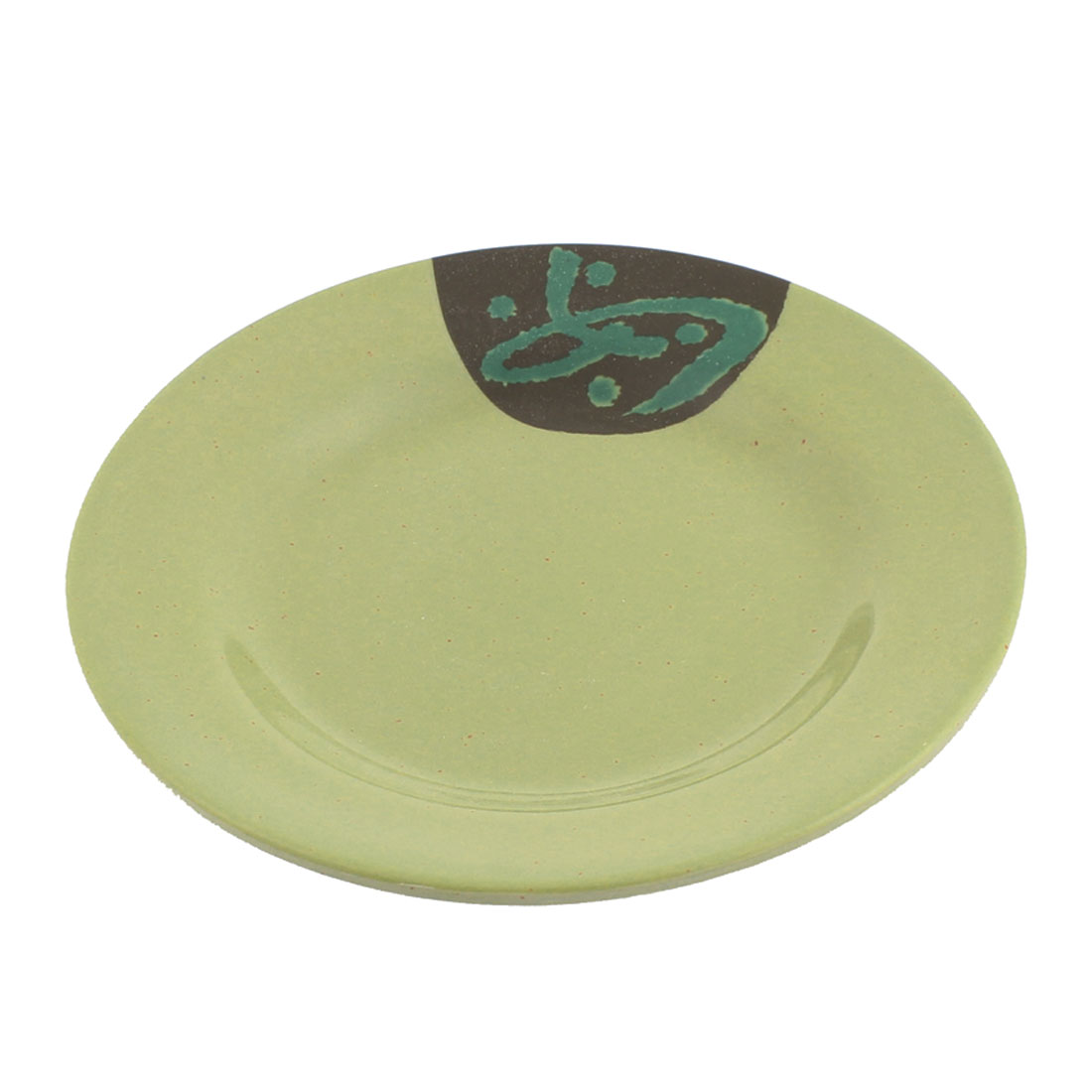 Kitchen Restaurant Round Shape Tableware Plastic Dinner Plate 6 Inch Dia