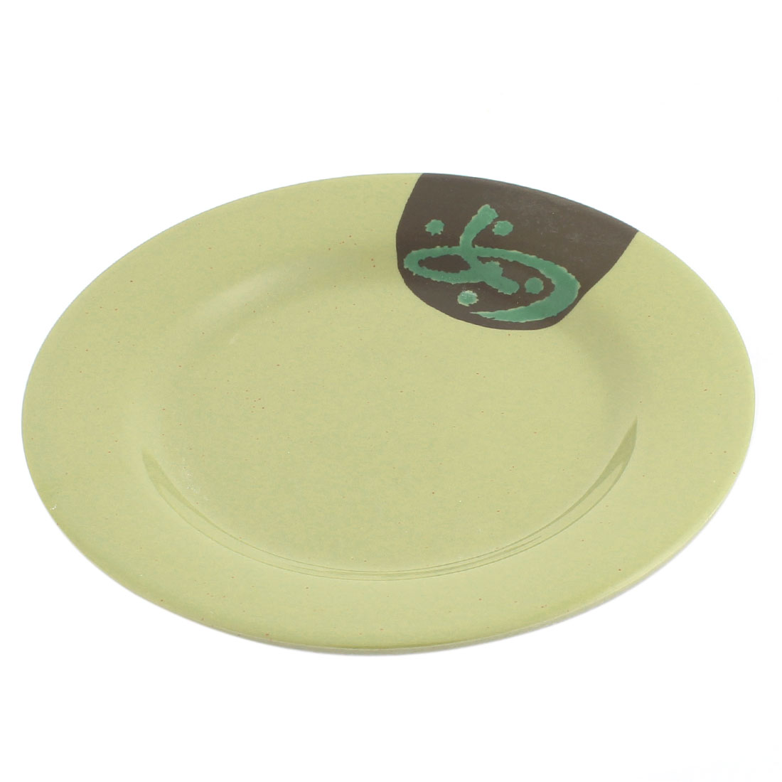 Kitchen Round Shape Tableware Plastic Dinner Plate 7 Inch Dia