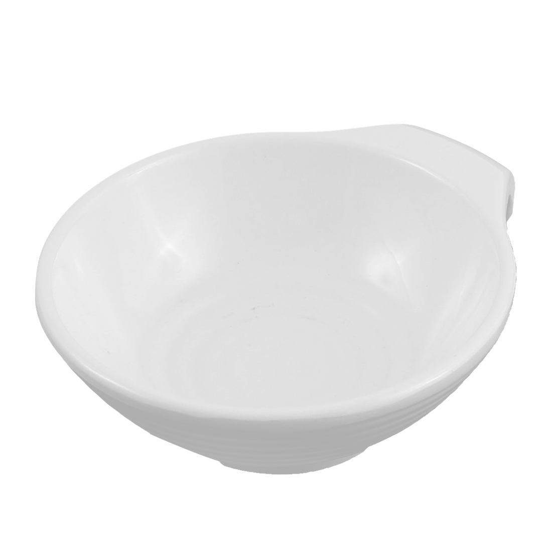 Sushi Soy Sauce Dipping Ear Handle Dish Plate White