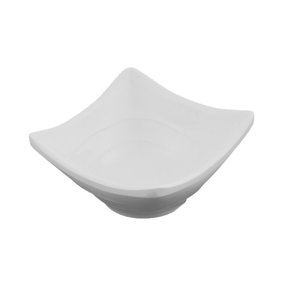 Household White Plastic Square Shape Sushi Sauce Soy Dish Bowl