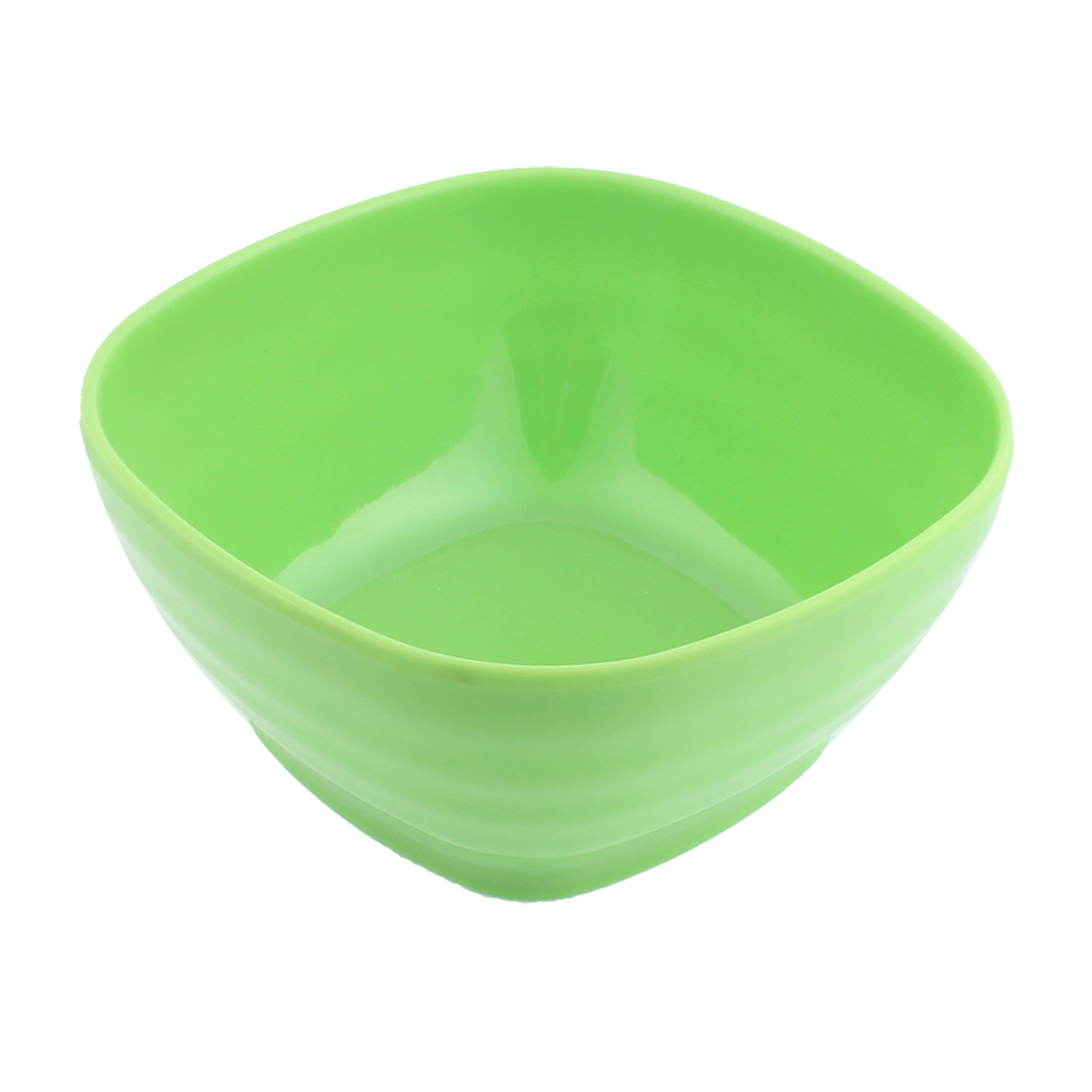 Plastic Square Design Soup Cereal Fruits Salad Bowl Green