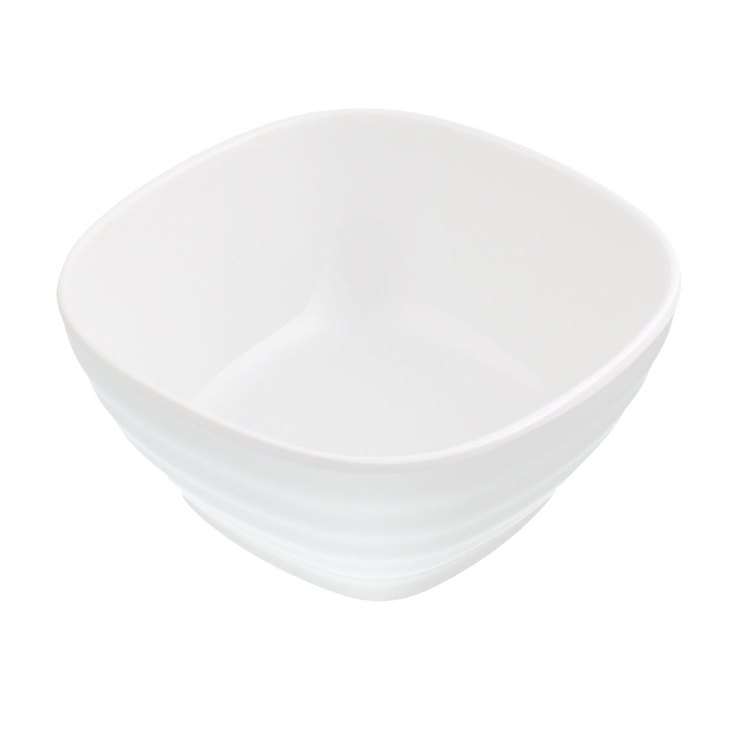 Plastic Square Shape Soup Cereal Fruits Rice Salad Bowl White