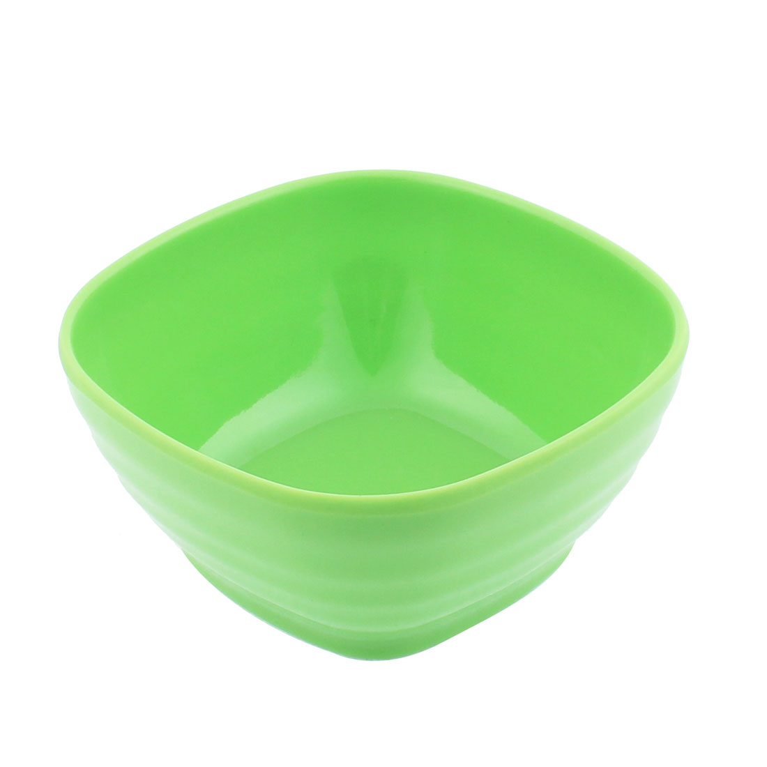 Plastic Square Shape Soup Cereal Fruits Rice Salad Bowl Green