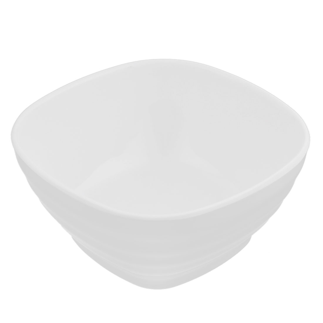 Plastic Square Shape Tableware Cereal Fruits Salad Dinner Bowl White