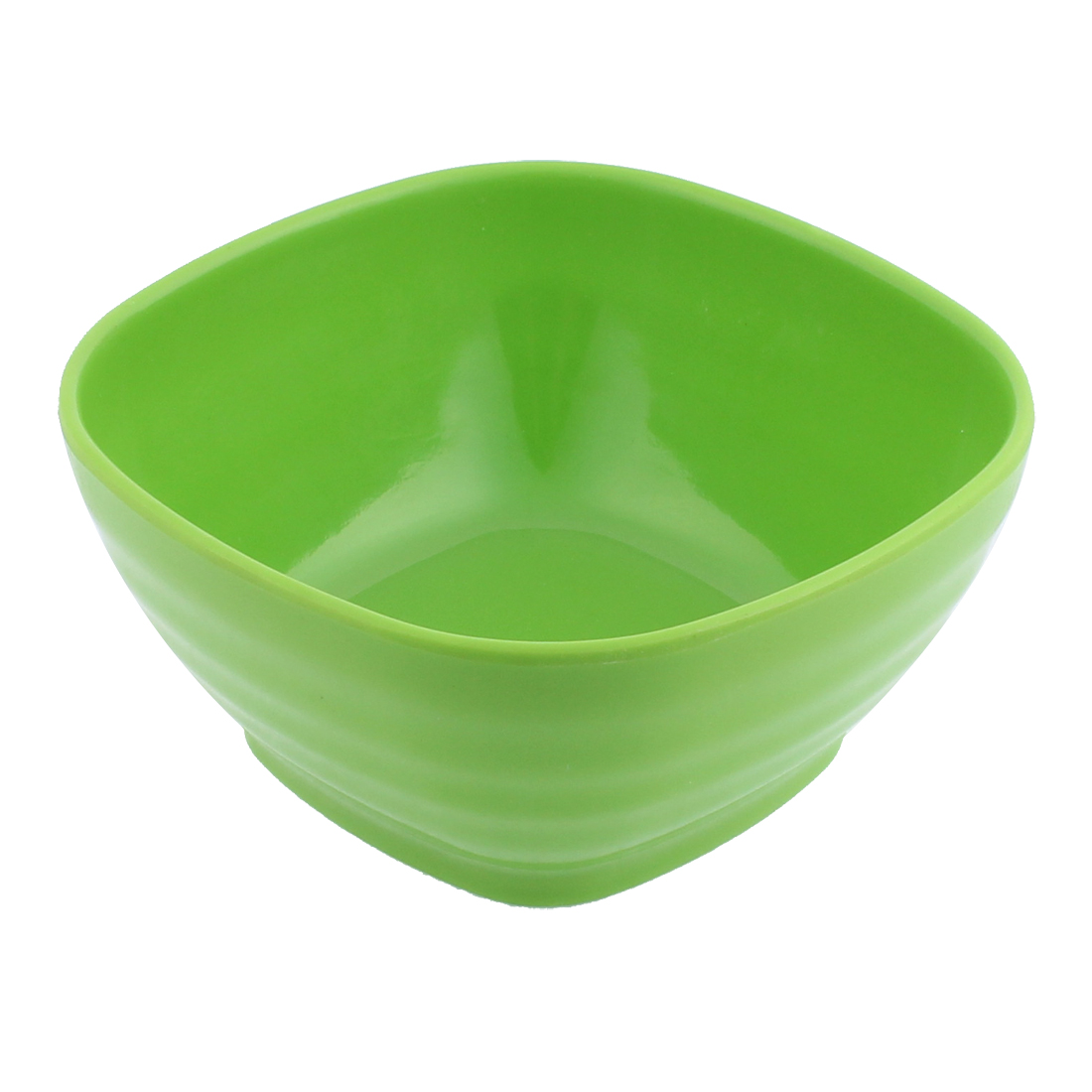 Plastic Square Shape Tableware Cereal Fruits Salad Dinner Bowl Green