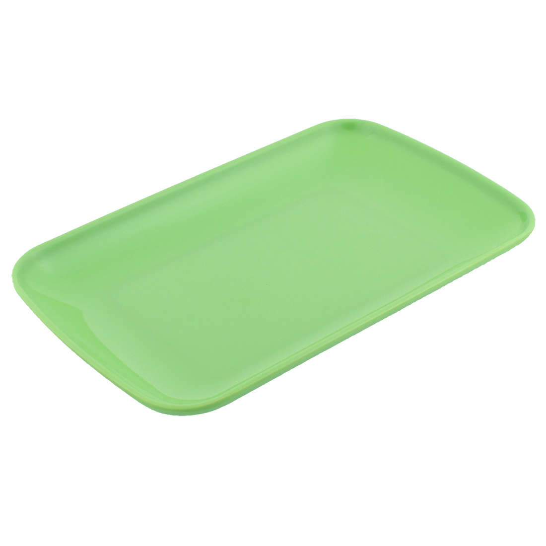 Rectangle Shape Dinner Dessert Appetizer Vermicelli Plate Dish Green