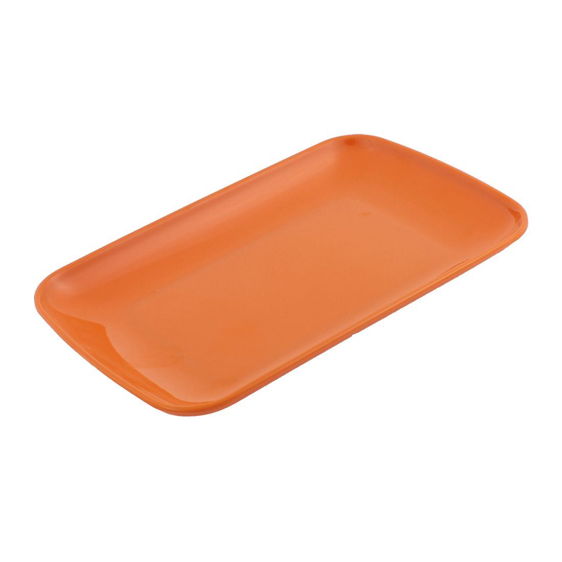 Rectangle Shape Dinner Dessert Appetizer Vermicelli Plate Dish Orange