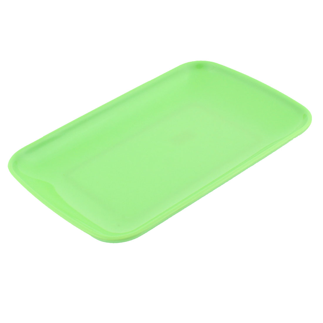 Plastic Rectangle Shape Dinner Dessert Vermicelli Plate Dish Green