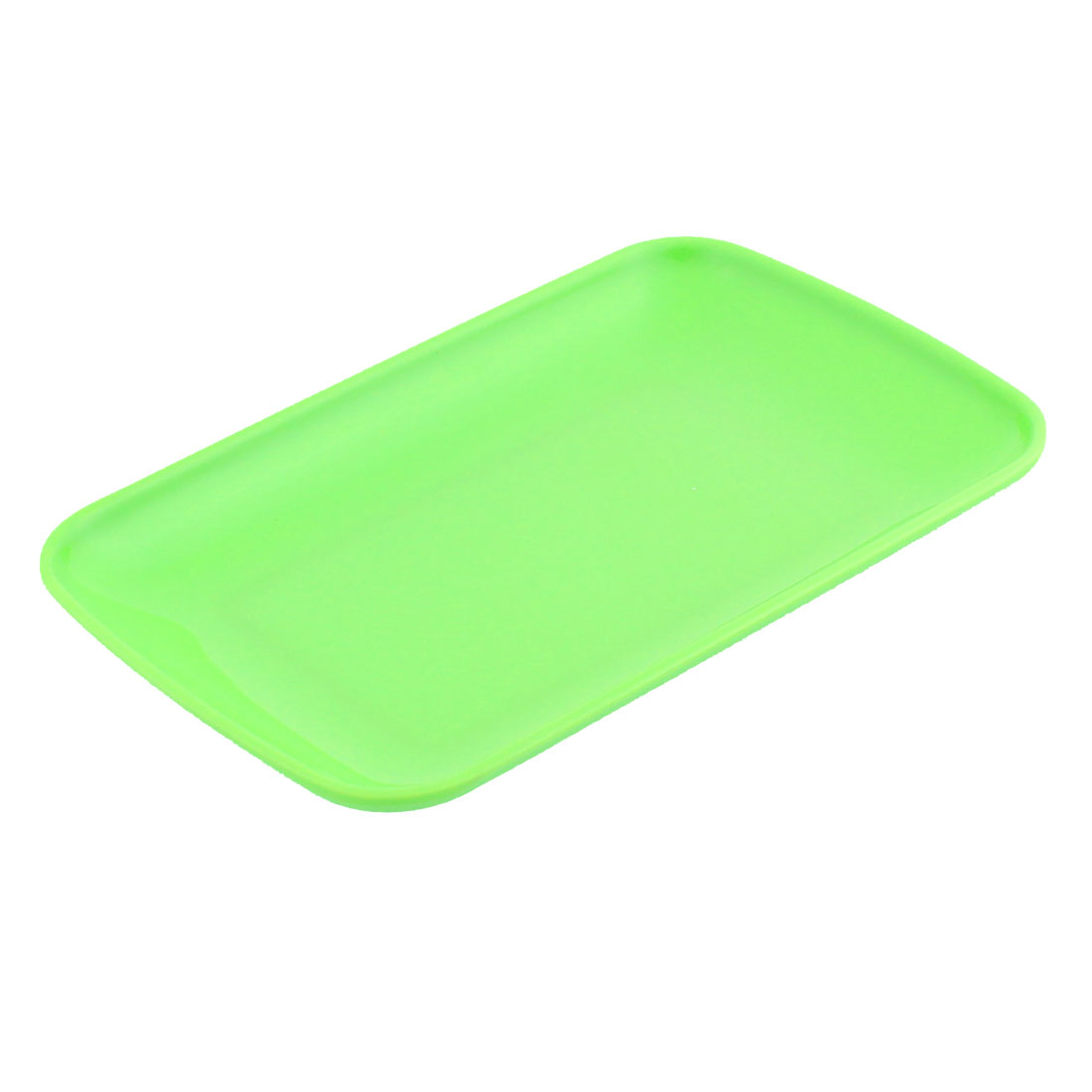Plastic Rectangle Design Dessert Appetizer Vermicelli Plate Green