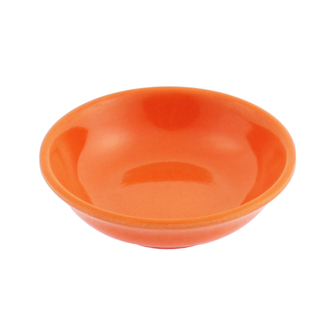 Round Shape Soy Sauce Dipping Sushi Mini Dish Plate Orange